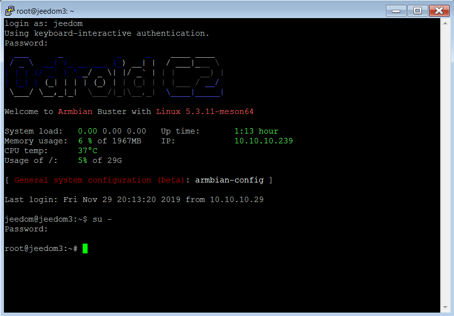 Odroid-C2-Armbian-Buster-Kernel5