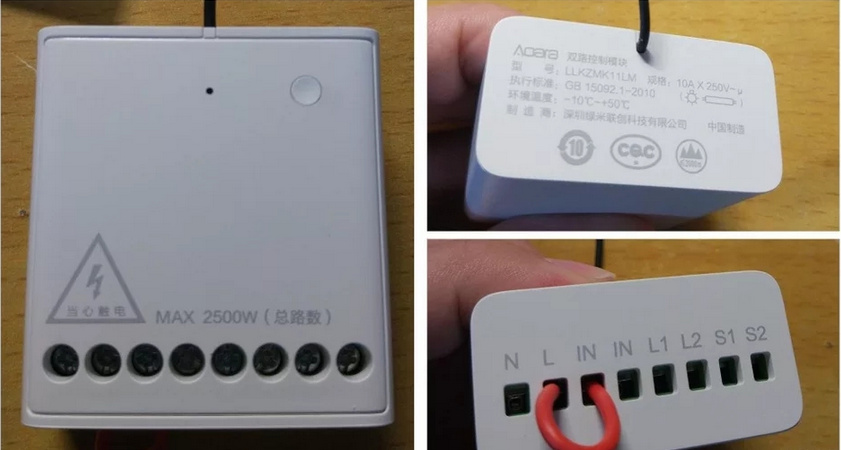 LLKZMK11LM-Zigbee-Xiaomi-Mijia-Aqara-Wireless-Relay-Controller-2channels