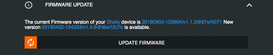 008 Shelly Update Firmware