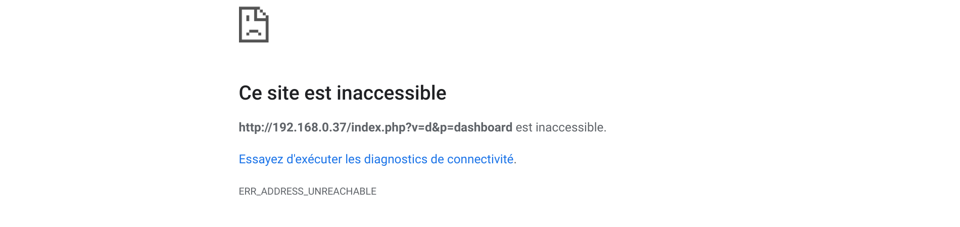 jeedom inaccessible