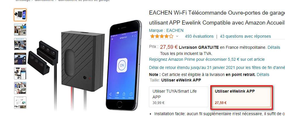Plugin wifilightV2 - Sonoff - Ewelink LAN - Objets